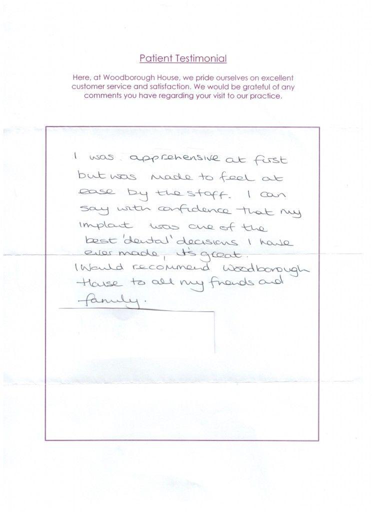 patient testimonial maria dean